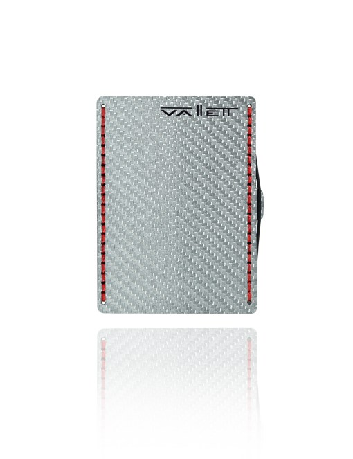 Vallett Carbon Fiber Wallet - Red Stitching
