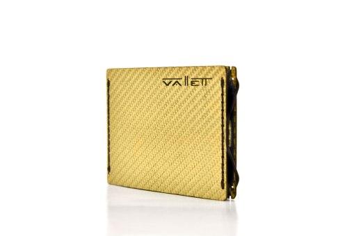 Mens Gold Carbon Fiber Wallet