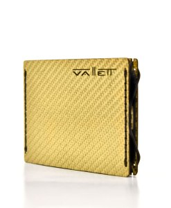 Mens Gold Carbon Fiber Wallet