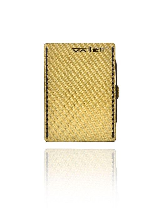 Vallett Small gold carbon fiber wallet