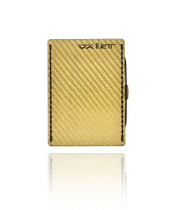 Vallett Small gold carbon fiber wallet