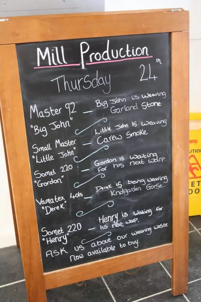 Melin Tregwynt Production Schedule