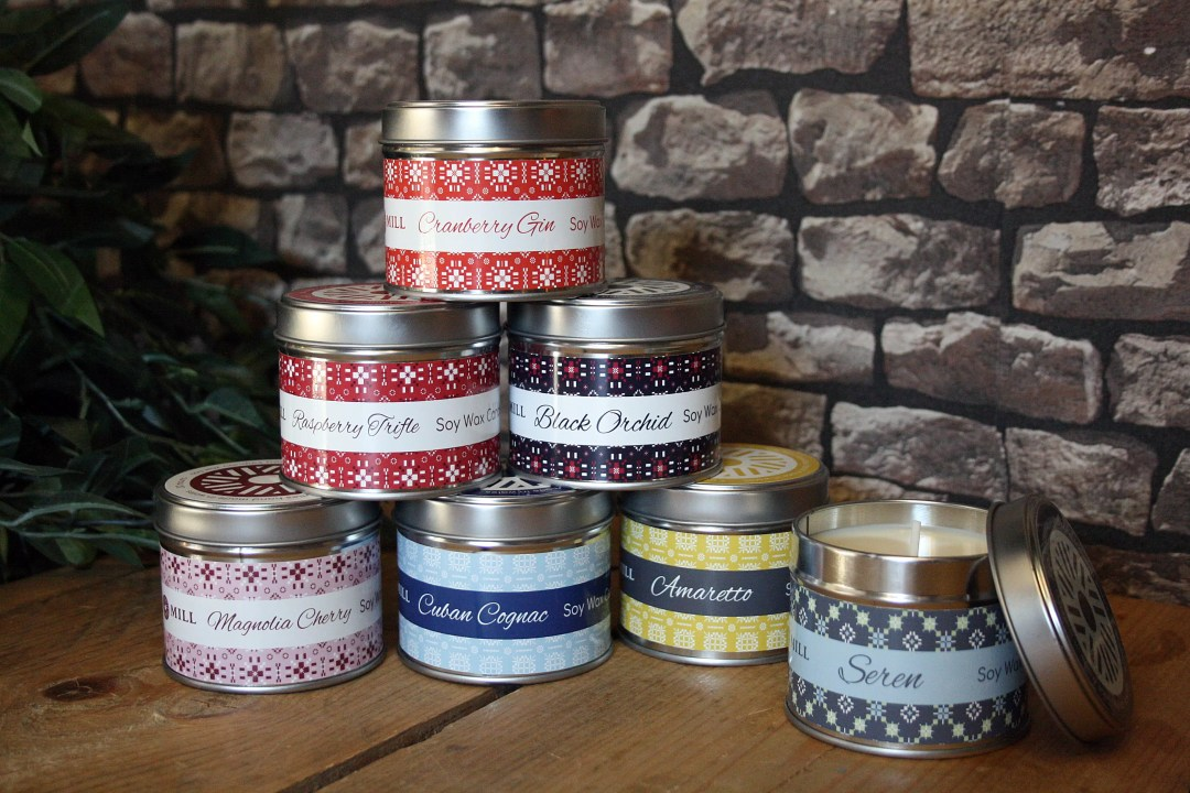 Valley Mill Tapestry Tin Candles