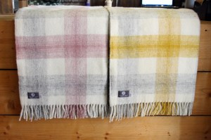 Valley Mill Meadow Check Welsh Woollen Throws