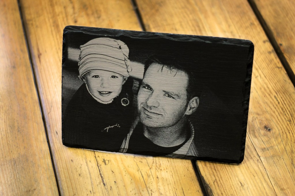 Medium Welsh Slate Father's Day Photograph Engraving
