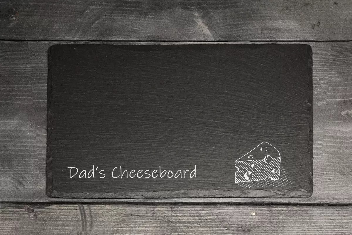 Father's day Welsh slate Dad's cheese board