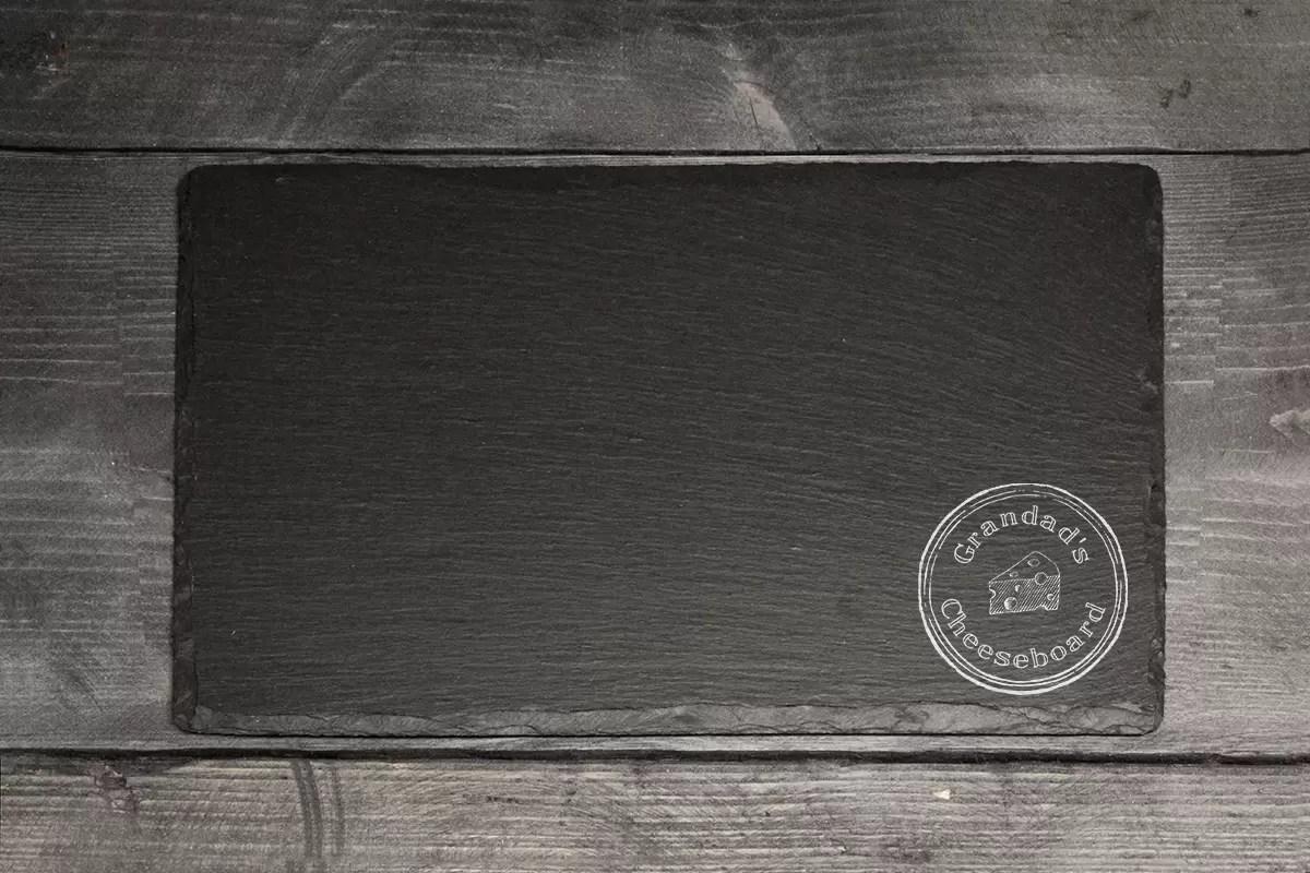 Grandad's cheeseboard Welsh slate Father's day gift