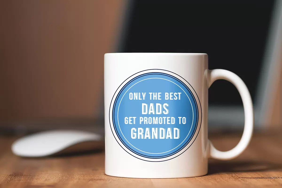 Only the best Dads get promoted to Grandad Father's Day mug