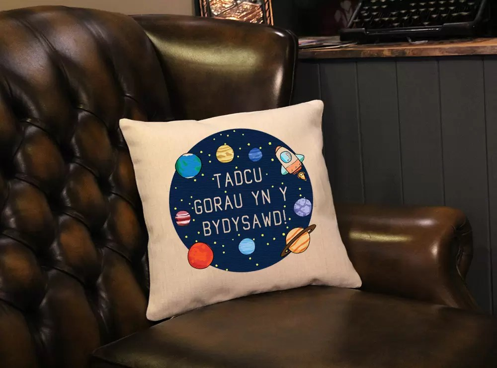 Best Grandad in the universe Welsh linen effect Father's day cushion gift