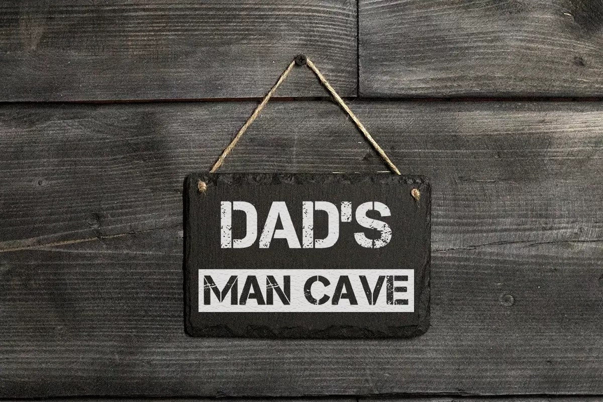 Dad's Man Cave Welsh slate hanging sign Father's day gift
