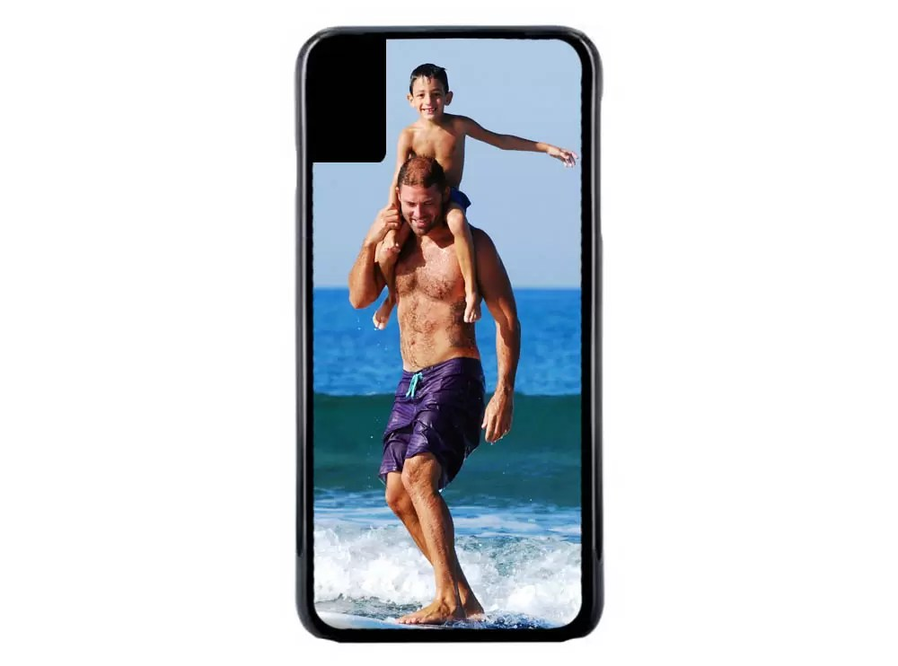 iPhone XS photo rubber phone case Father's day gift