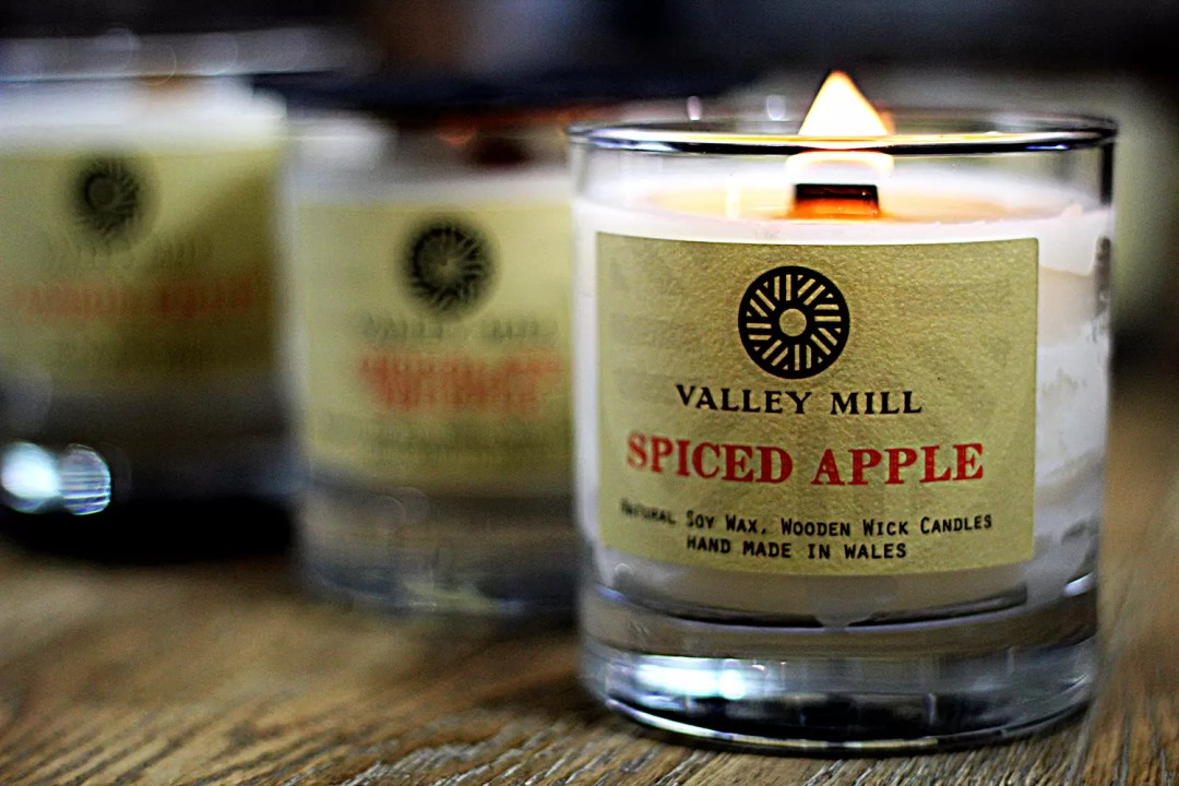 Spiced Apple Wood Wick Soy Handmade Candle