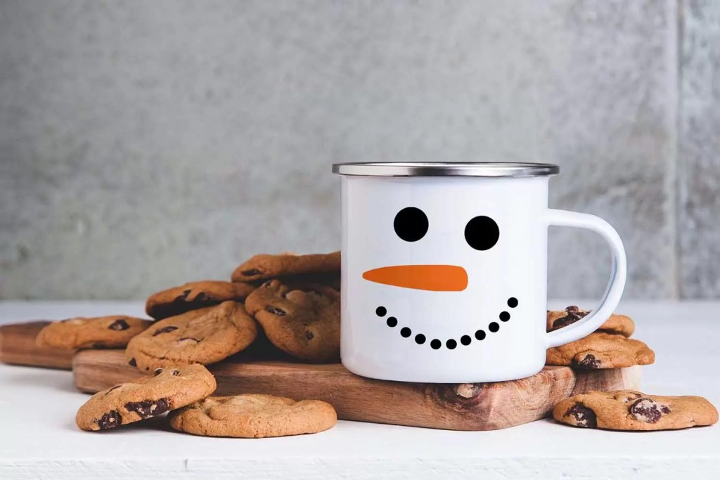 Snowman Christmas Enamel Mug