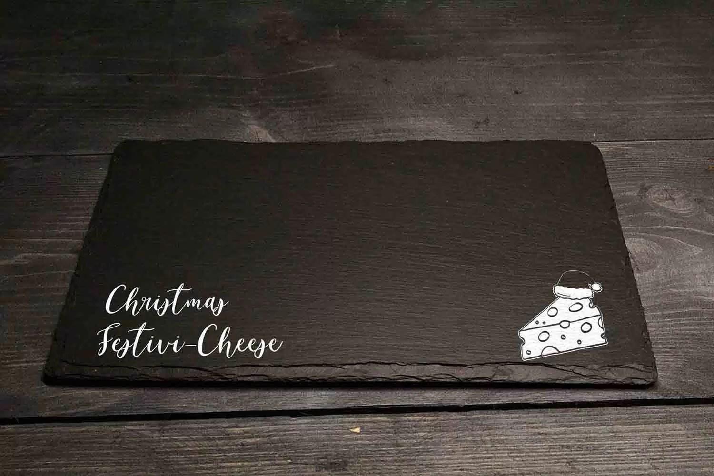 Chritmas Festivicheese Christmas Welsh Slate Cheeseboard Gift