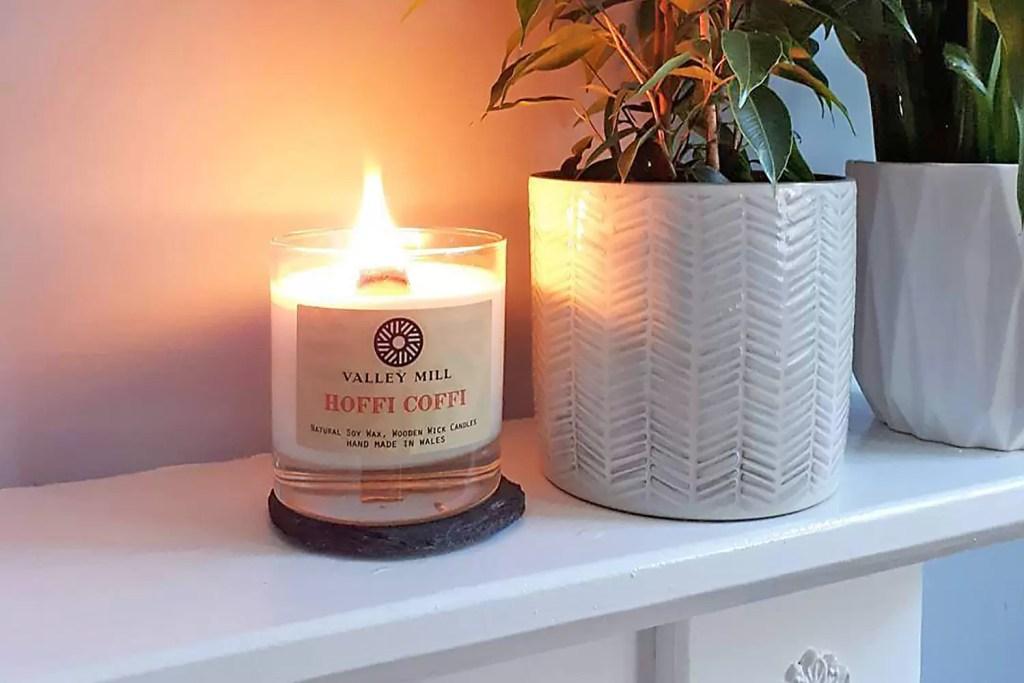 Handmade Hoffi Coffi Soy Wood Wick Coffee Fragranced Candle