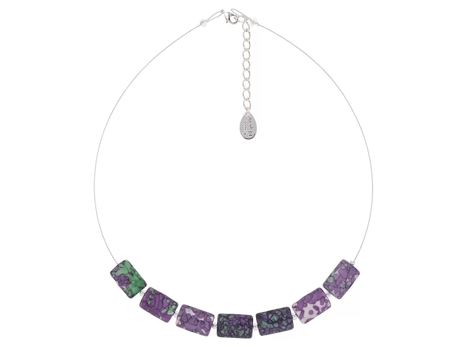 Carrie Elspeth Purple Rainflower Necklace