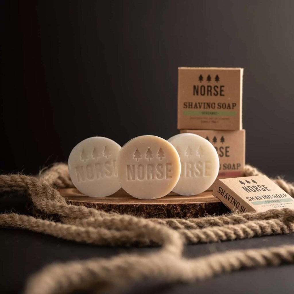 We love these Norse shaving soaps. Perfect Father's Day Gift