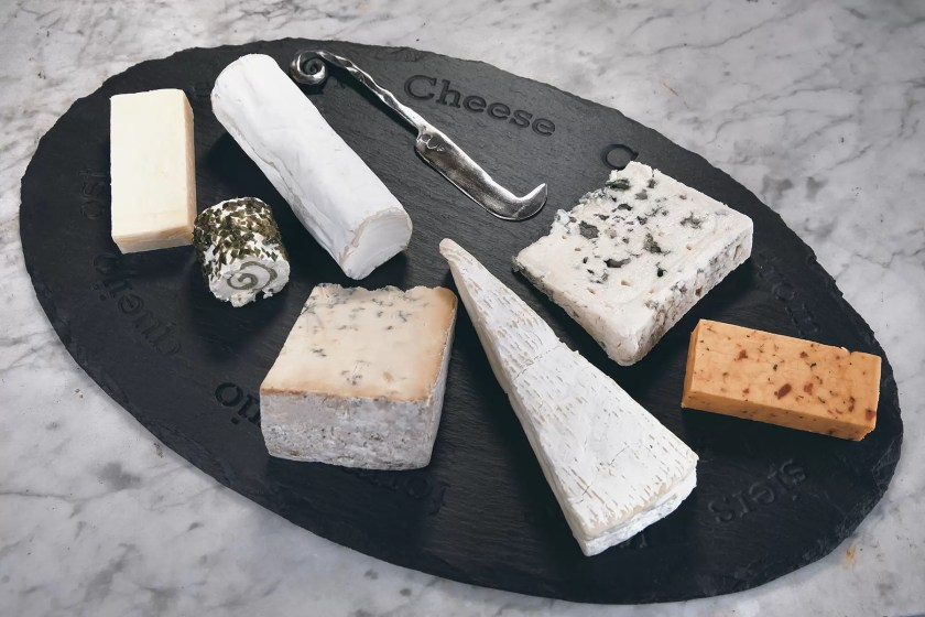 Serve up a selection of your father's favourite cheeses on one of Valley Mill's Welsh slate cheese boards.