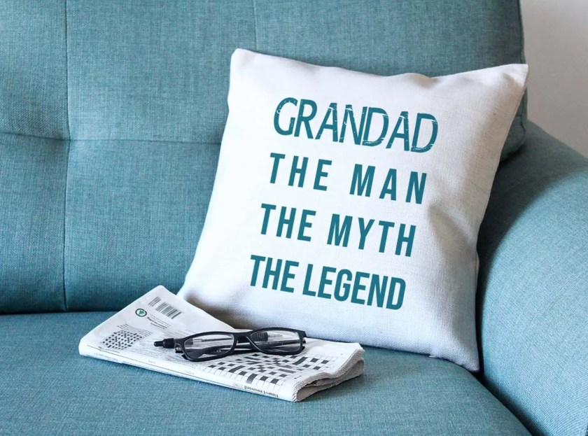 Cuddle and cosy up with Grandad on Father's Day with the lovely Valleu Mill cushion
