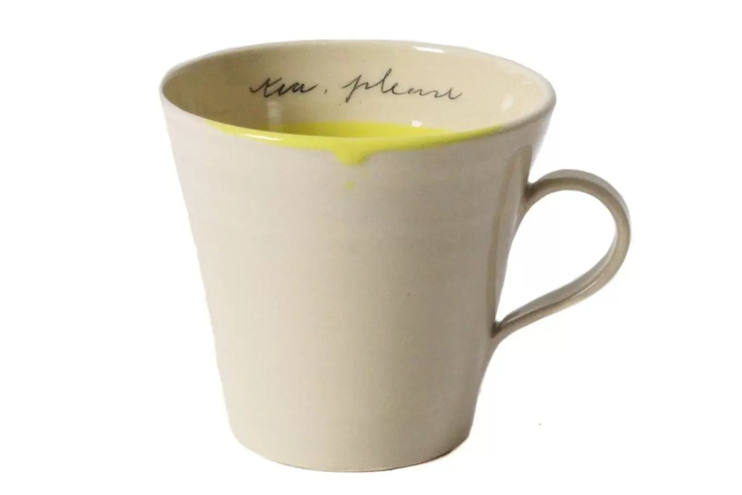 Large tea mug. Ceramics from Alice Funge. Exclusive design to Valley Mill.