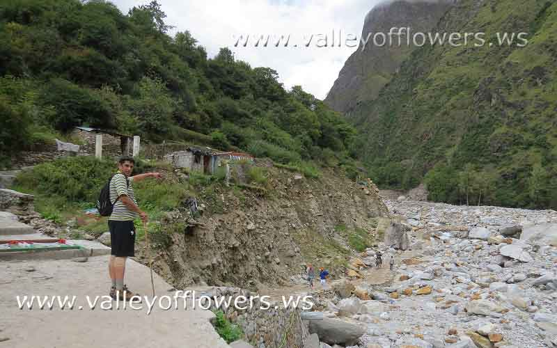 Bhyuandar village after the floods in Uttrakhand