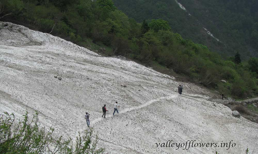 Glacier near the entry gate of the valley. This picture was taken in June first week, 2012.