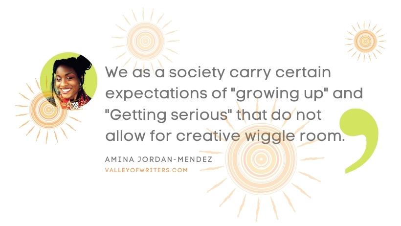 Amina Jordan-Mendez quotes - we as a society- Valley of Writers