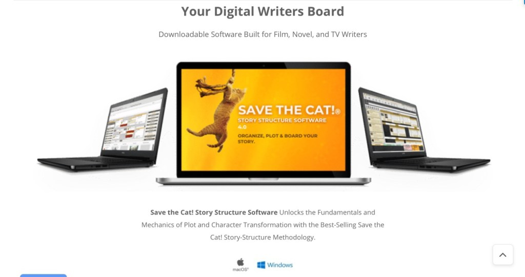 Save The Cat Software screenshot
