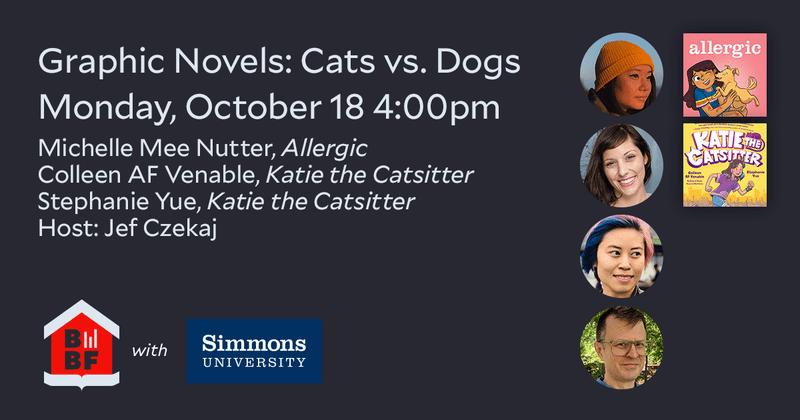 Boston Book Festival- Middle Grade Graphic Novels- Cats vs. Dogs