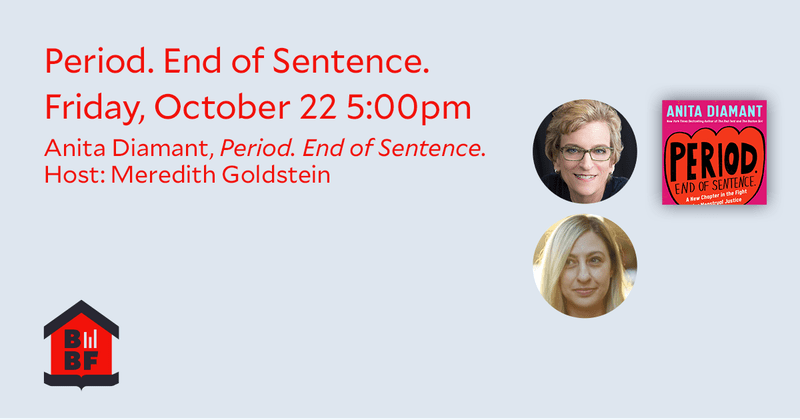 Boston Book Festival- Period. End of Sentence.