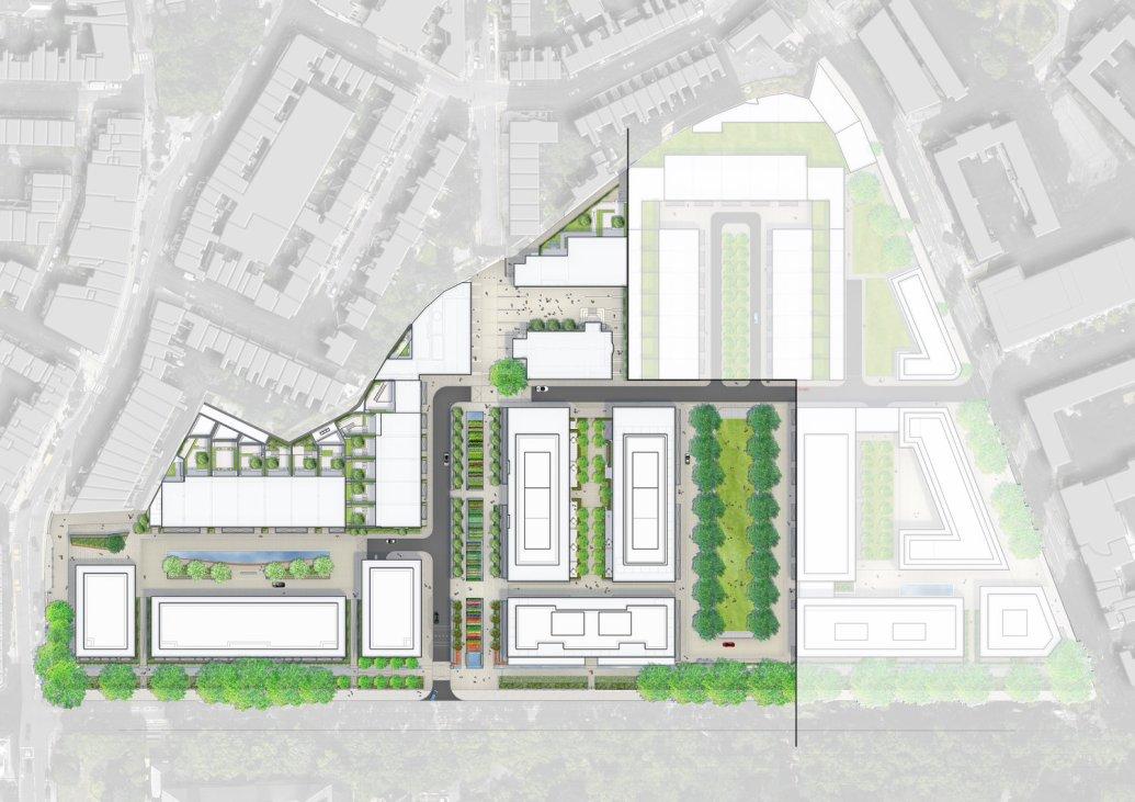 Chelsea barracks master plan