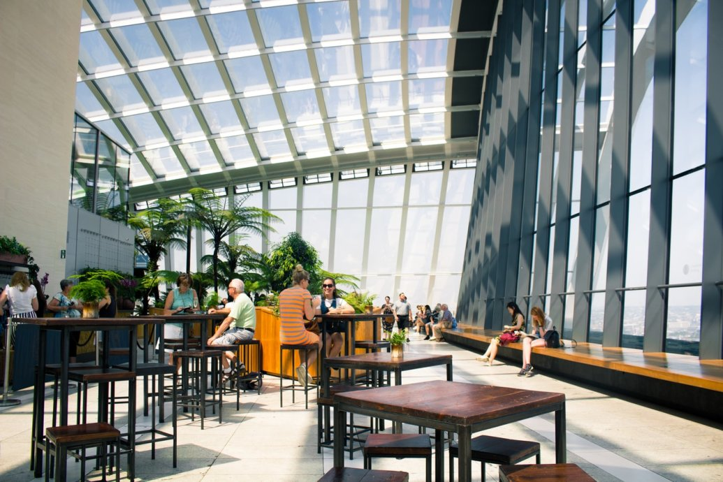Roof Terrace specialists, Roof Garden at Sky Garden, London, landscaping contractors