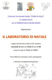 Laboratorio di Natale 2019 - Stare in Valle