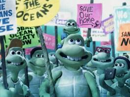 Imagen del cortometraje de Greenpeace y Wallace y Gromit