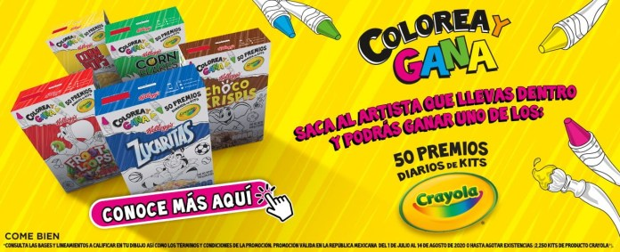 Colorea y Gana de Kellog y Crayola