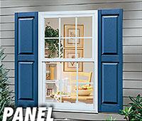 Valor panel vinyl shutters