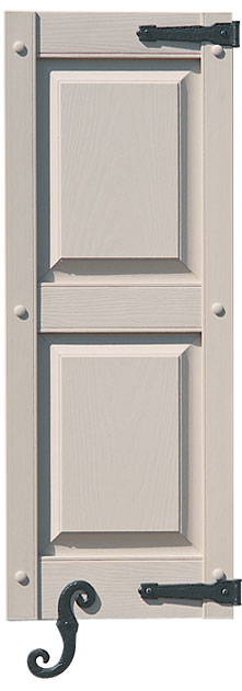 Panel Shutter with Decorative Hook & Hinge
