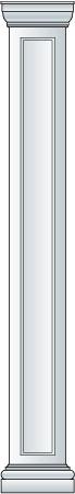 Square Recessed Fiberglass Columns
