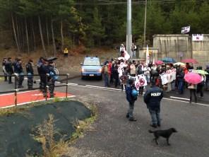 Poca partecipazione di No Tav e No Tir davanti al cantiere