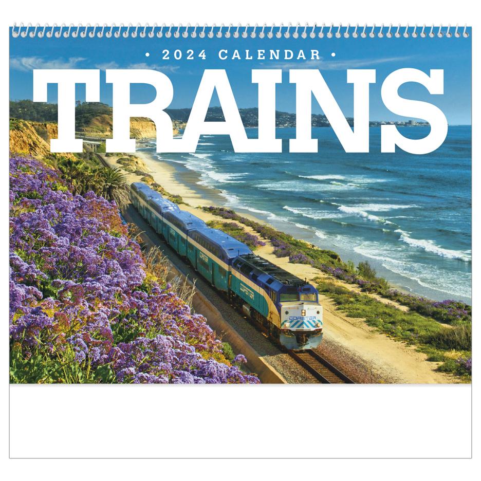 2020 Trains Calendar 11 X 19 Imprinted Spiral Bound Drop Ad Imprint Calendars