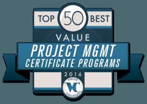 Top 50 Best Value Project Management Certificate Programs