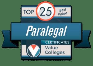 Top 25 Best Value Paralegal Certificates 2020