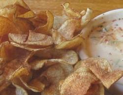 potato chips with peel