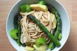 Kamut Udon Noodles with Veggies