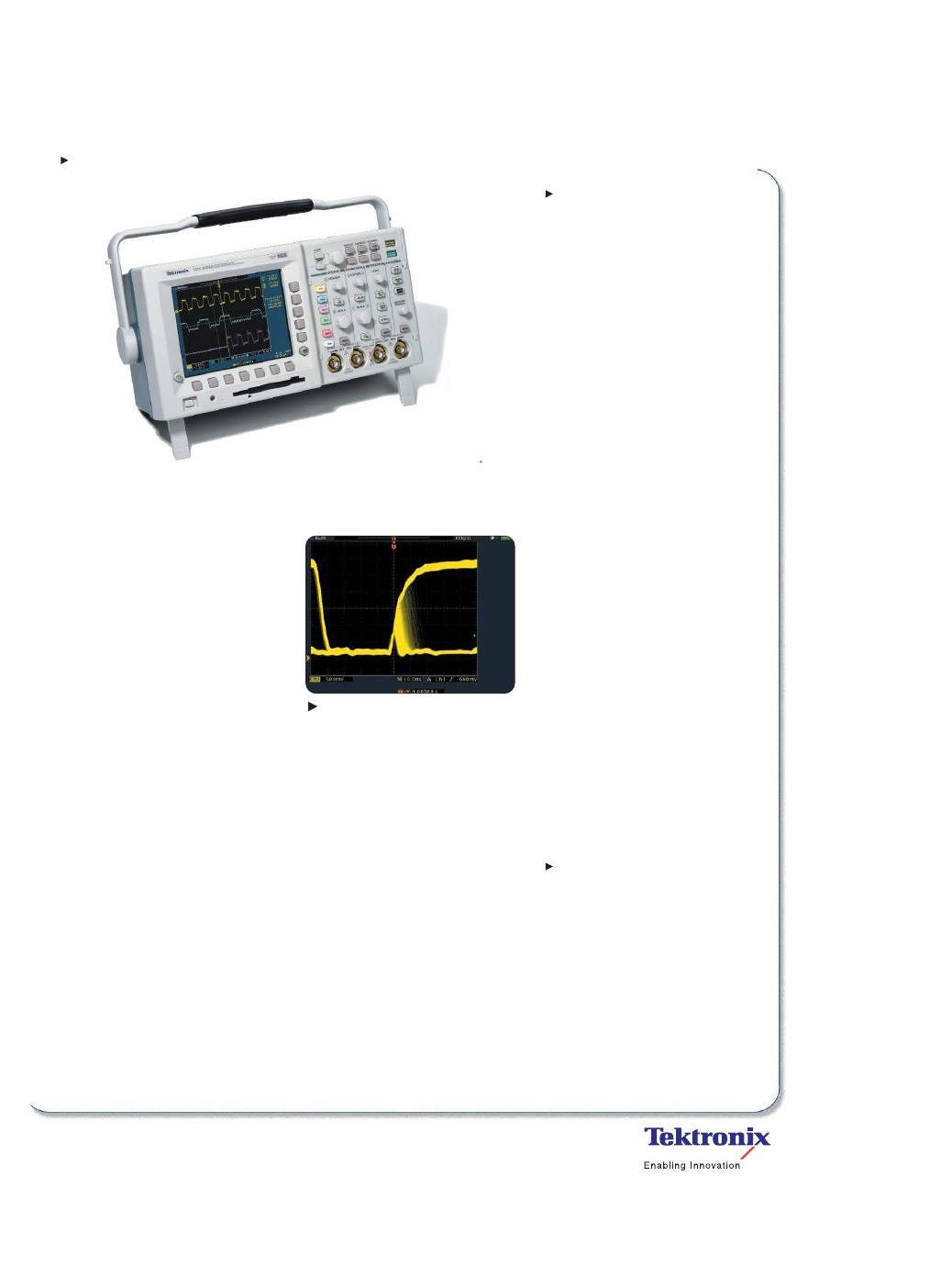 Tds B Tektronix Series Digital Oscilloscope