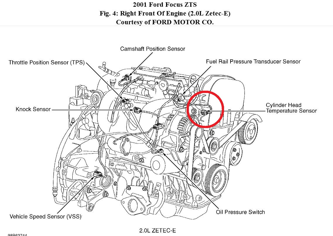 Ford Focus Throttle Position Sensor Location