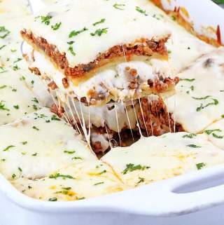 I've got the easiest and the tastiest lasagna recipe you'll ever make! It consists of very basic ingredients you most likely to have on hand. This Lasagna with Mushrooms is a perfect make-ahead dish your family will love!