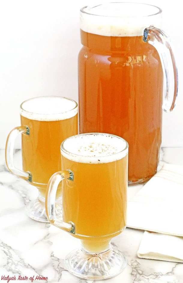 "This traditional Ukrainian Apple Kvass - Квас ""Яблочный""drink is truly yummylitious! There are many different kvass recipes, including the most popular bread kvass, but this recipe has a delicious, apple flavor that is just delightful and enjoyed by adults and kids alike. Kvass is a perfect thirst-quenching drink, remarkably refreshing, especially during these hot summer days."