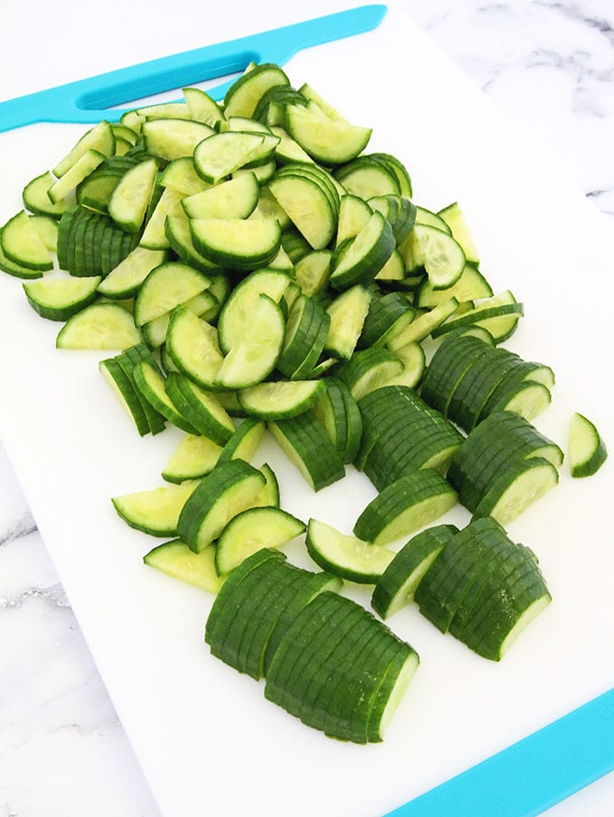 This Cabbage and Cucumber Salad is very easy to make and sure is healthy. It's crispy, creamy, refreshing and savory. The crunchy texture and scrumptious flavor pairs nicely with practically any softer and milder dish, such as mashed potatoes or pasta. #familyfavorite #freshveggiesalad #easyrecipe #valyastasteofhome
