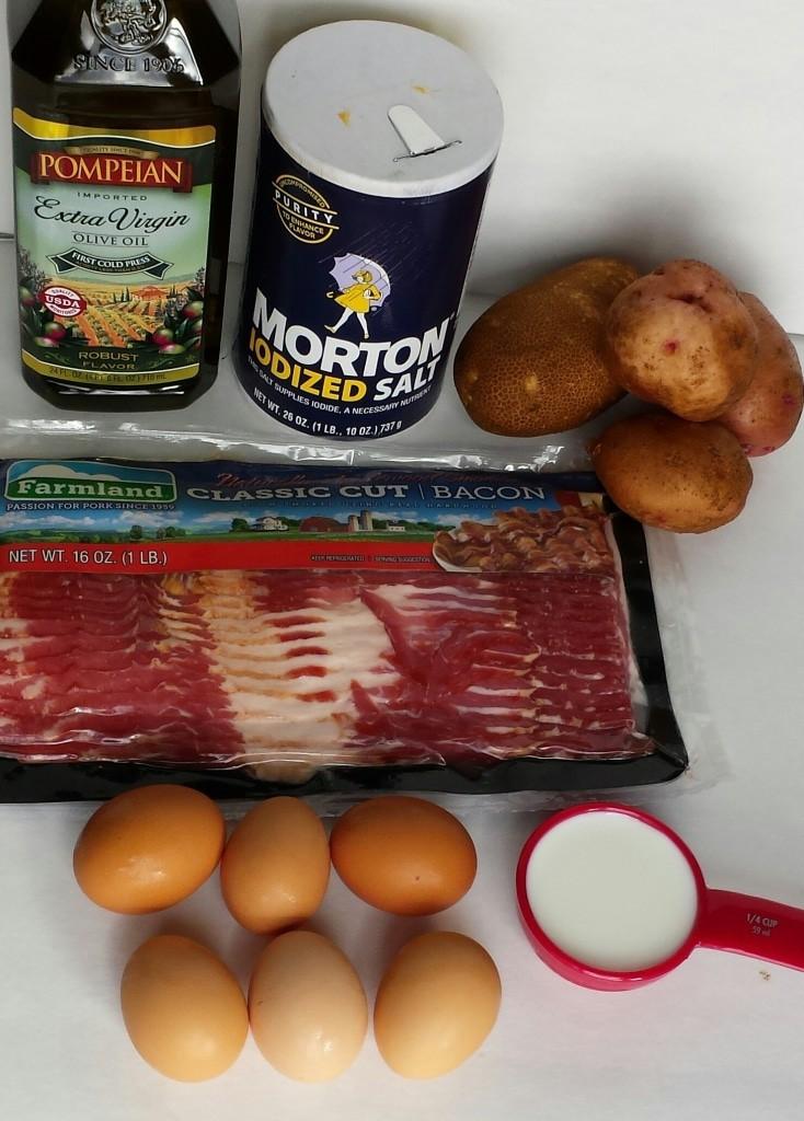 Potatoes-Bacon-Eggs Breakfast Omelet